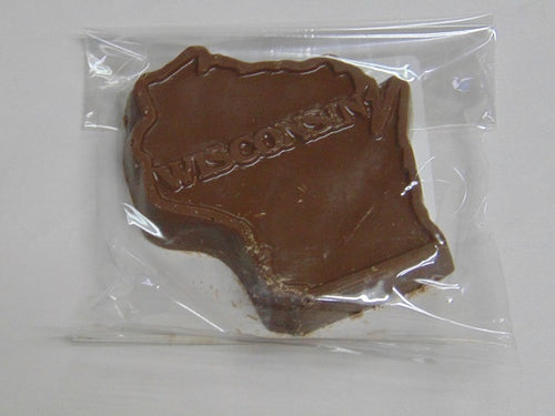 3.5oz Solid Milk Chocolate Wisconsin State Shape 3-Pack
