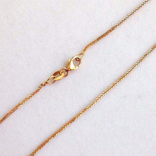 16 inch 14K rose gold square wheat chain with lobster clasp 3.0 grams $390