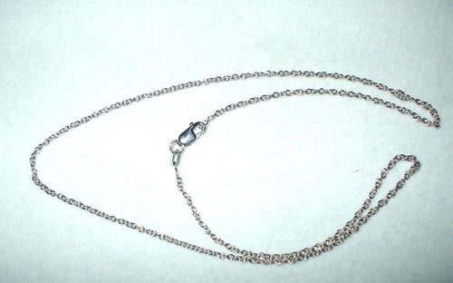 16 inch 14K white gold cable chain with lobster clasp 2.4 grams 0.9 mm $330