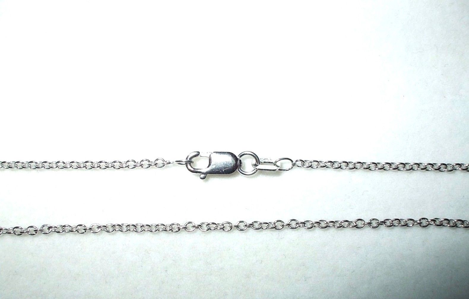 18 inch 14K white gold cable chain with lobster clasp 2.5 grams 0.9 mm $350