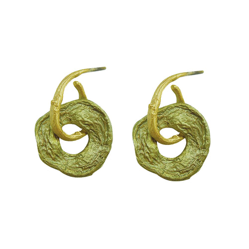 Michael Michaud Retired Curly Pods Post Earrings 3098 BZ Retail Price $48