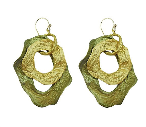 Michael Michaud Retired Curly Pods Wire Earrings 3101 BZG Retail $76