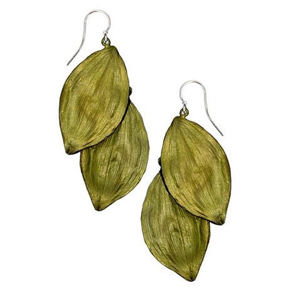 Michael Michaud Retired Solomon's Seal Wire Earrings 3161 Retail Price $72