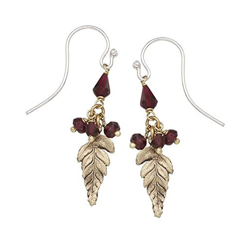 Michael Michaud Retired Dangle Fern Wire Earrings 3181 Retail Price $78