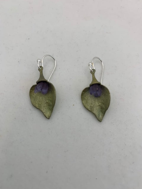 Michael Michaud Retired Lilac Wire Earrings 3208 Retail $80