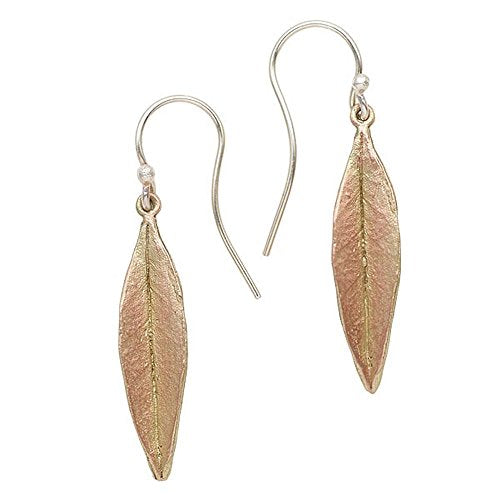Michael Michaud Retired Ash Leaf Wire Earrings 3229  BZGAB Retail Price $51