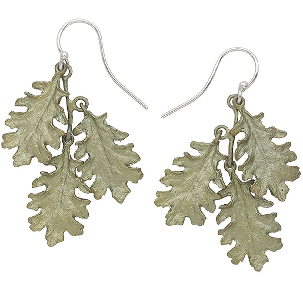 Michael Michaud Retired Kale Triple Leaf Wire Earrings 3241 Retail $89