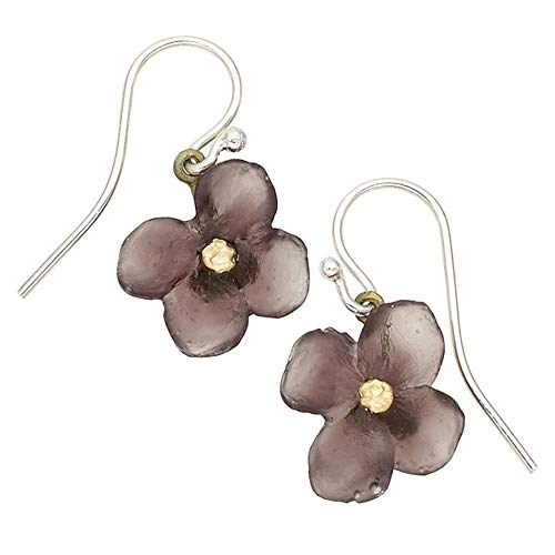 Michael Michaud Retired Wood of Life Single Flower Wire Earrings 3301 Retail $60