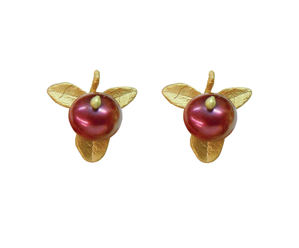 Michael Michaud Retired Cranberry Post Earrings 4408 BZG Retail $59