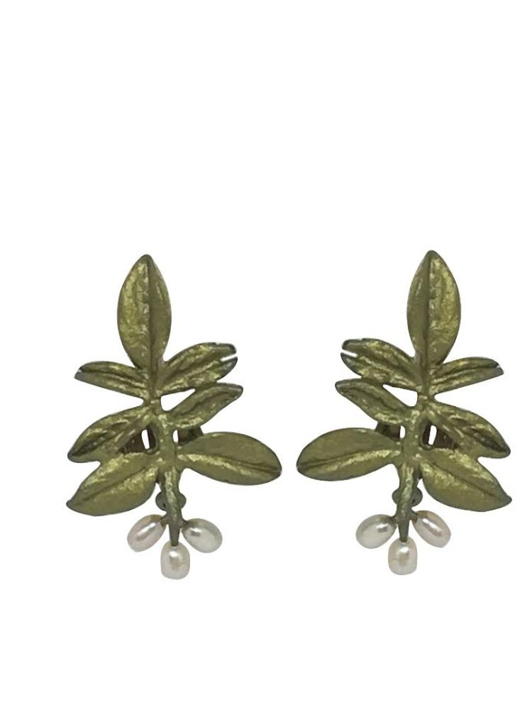 Michael Michaud Retired Wisteria Clip-On Earrings 4422 Retail Price $84