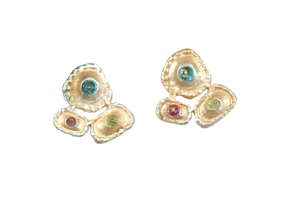 Michael Michaud Retired Sea Urchin Post Earrings 4637 Retail $82
