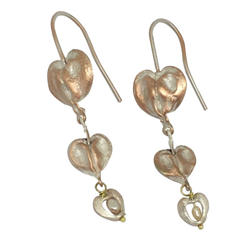 Michael Michaud Retired Bleeding Heart Wire Earrings 4774 Retail Price $88