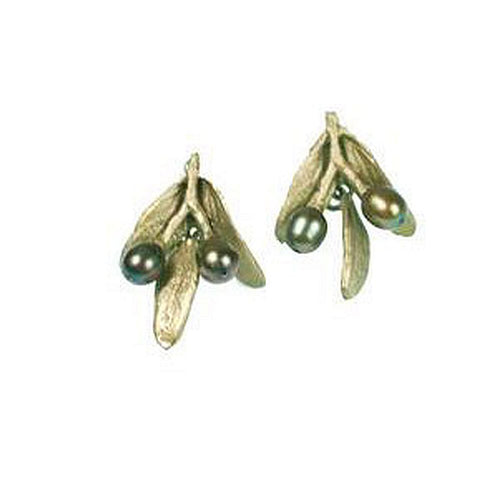 Michael Michaud Retired Olive Post Earrings 4780 Retail Price $78