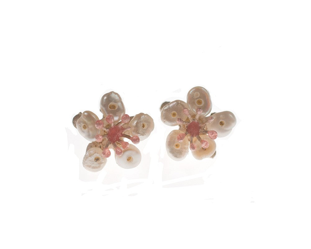 Michael Michaud Retired Cherry Blossom Post Earrings 4887 Retail $78