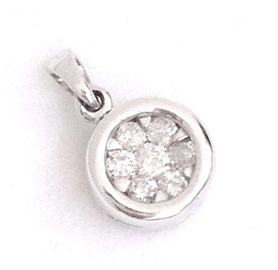Genuine Diamond and 14K white gold Pendant NWT $1200