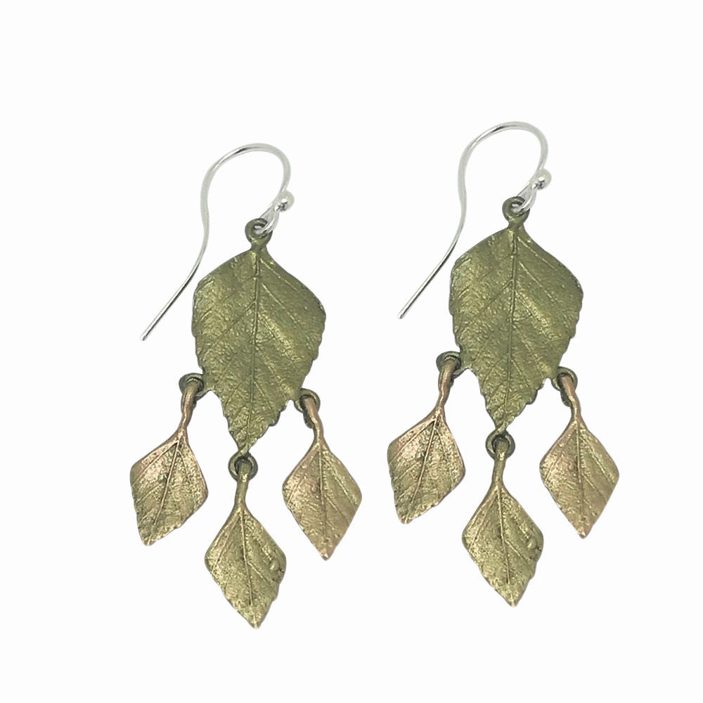 Michael Michaud Retired Autumn Birch Leaf Wire Earrings 3169 Retail Price $72