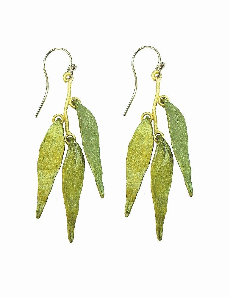 Michael Michaud Retired Weeping Willow Wire Earrings 3074 BZ Retail Price $68