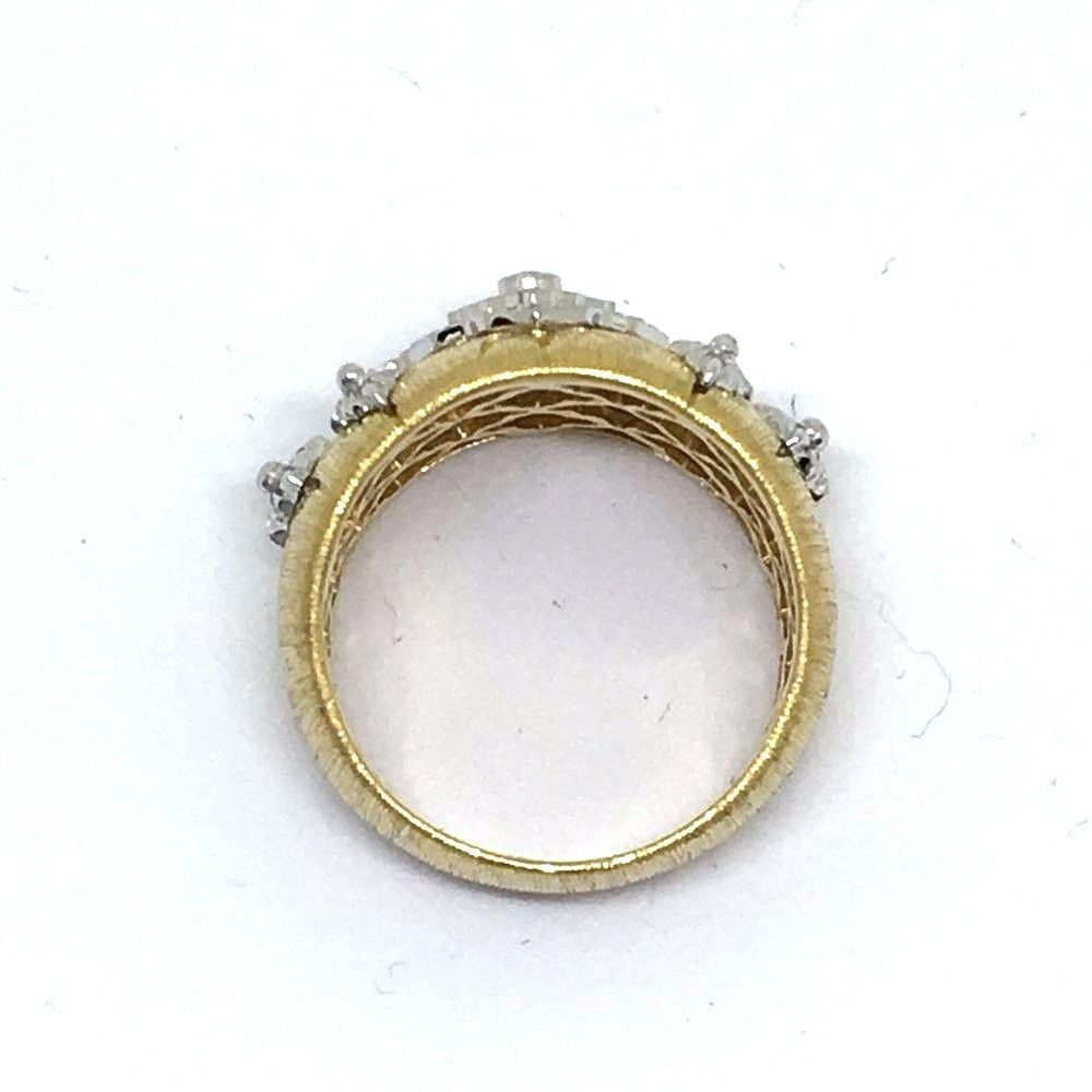 18K Yellow Gold with Genuine Diamonds Ring, 8.6 grams of gold, NWT $2800