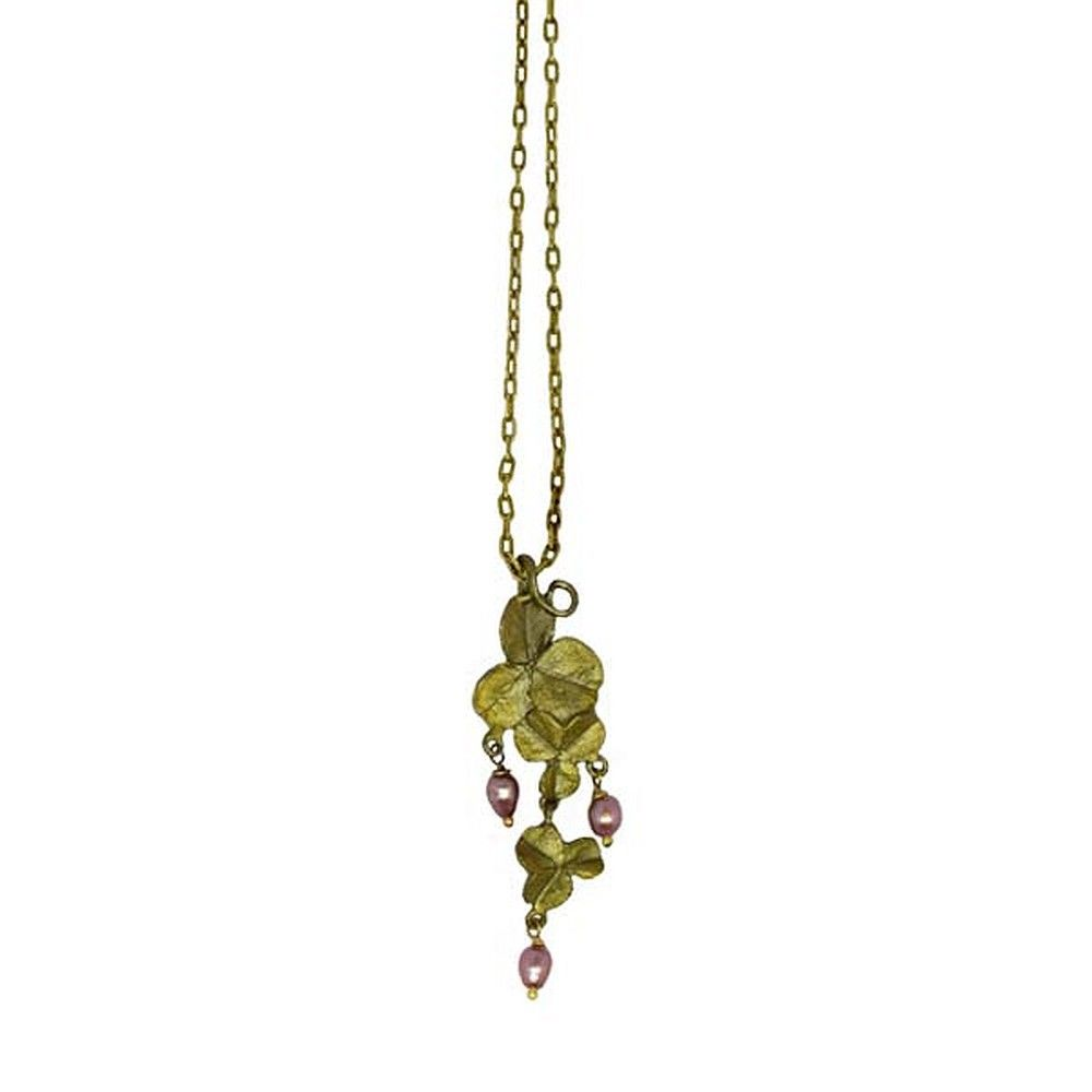 Michael Michaud Retired Pink Clover Necklace 9036 Retail price $84