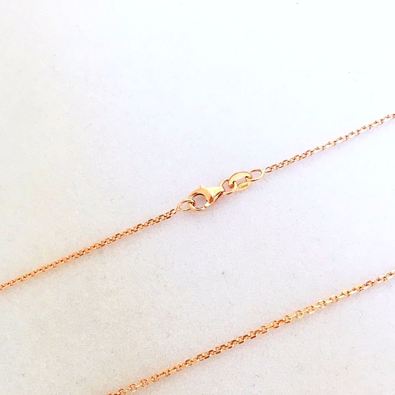 20 inch 14K rose gold cable chain with lobster clasp 2.8 grams $390