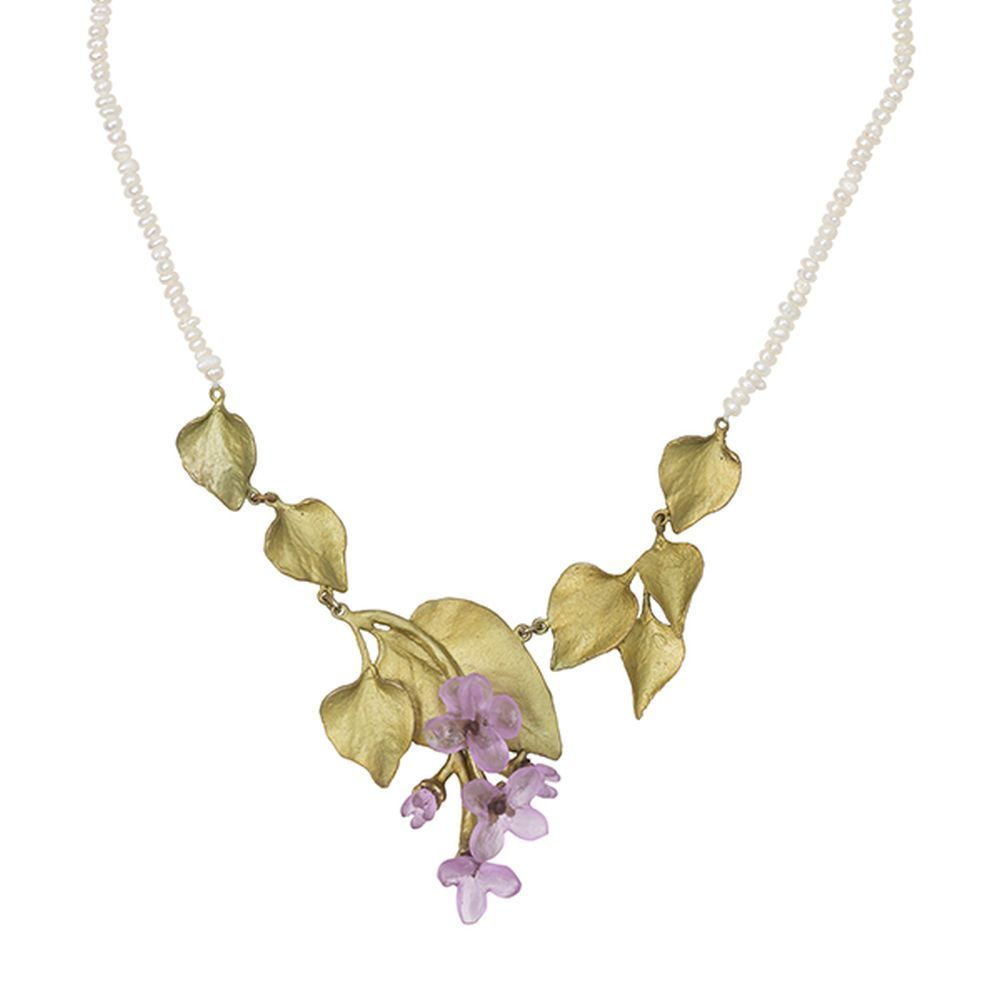 Michael Michaud Lilac & Pearl Necklace 9107