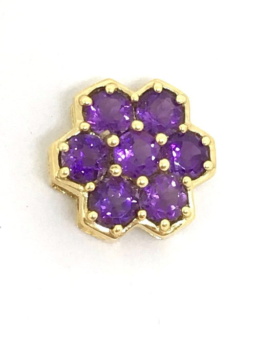 Genuine Amethyst Pendant 14K yellow gold NWT $350