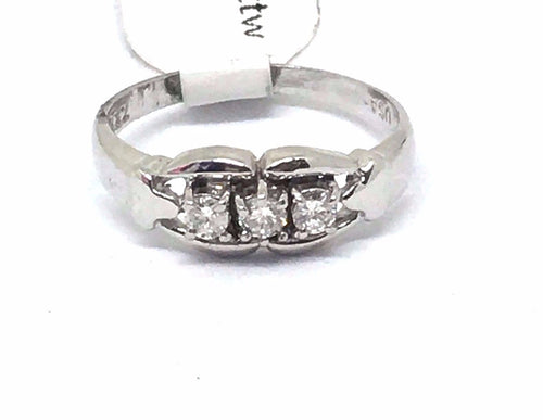 14K white gold and Genuine Diamond Ring  $1390 NWT Size 6 1/2