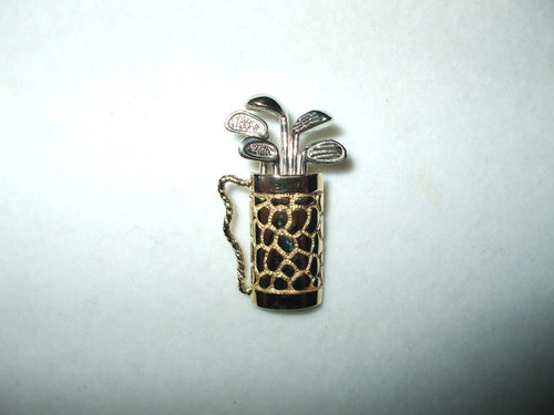14K Two-tone gold Golf Bag pendant  $400
