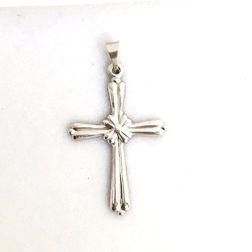 14k White Gold Cross Pendant, 1.3 grams, NWT $240