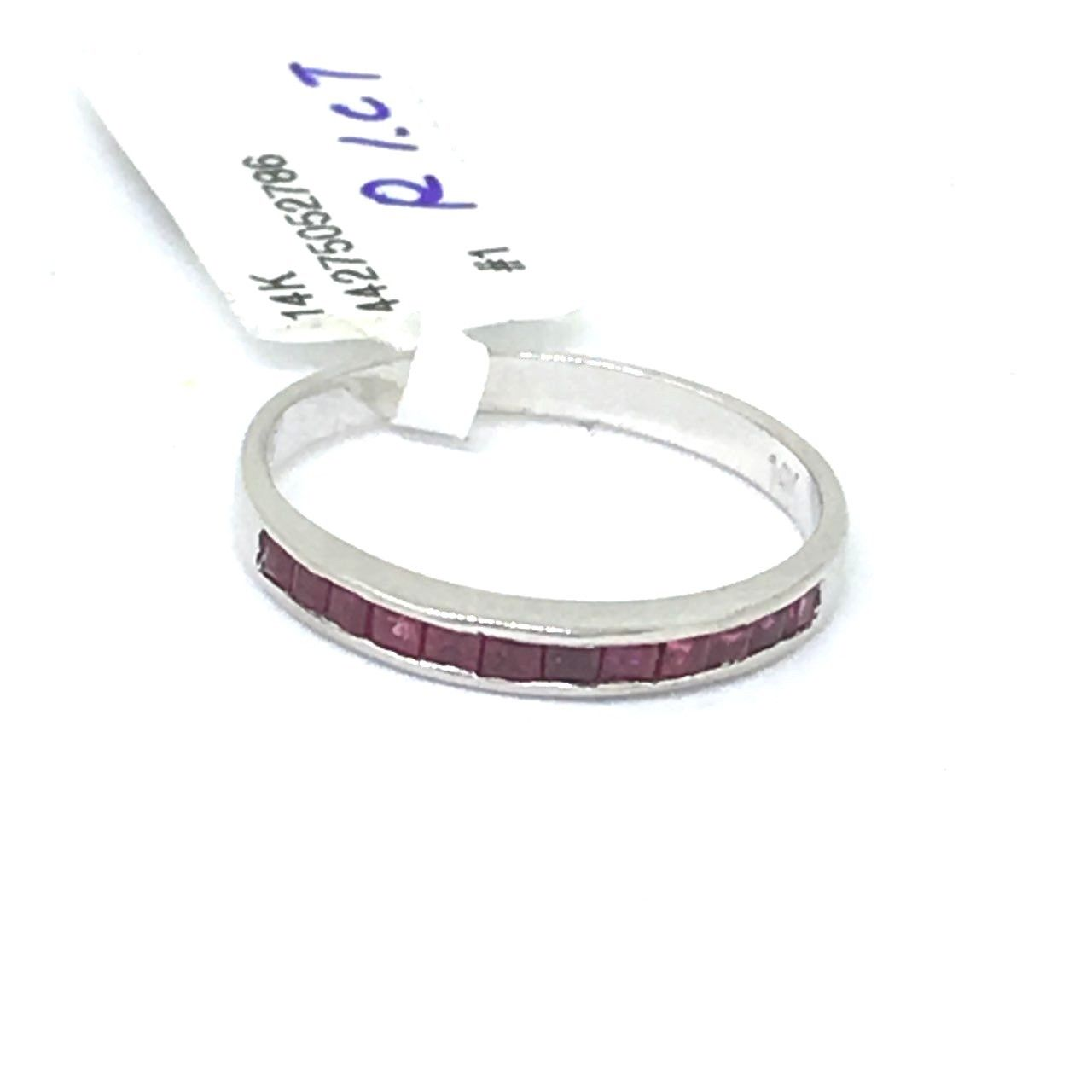 14K white gold and Genuine Ruby Ring $400 NWT Size 6 1/2