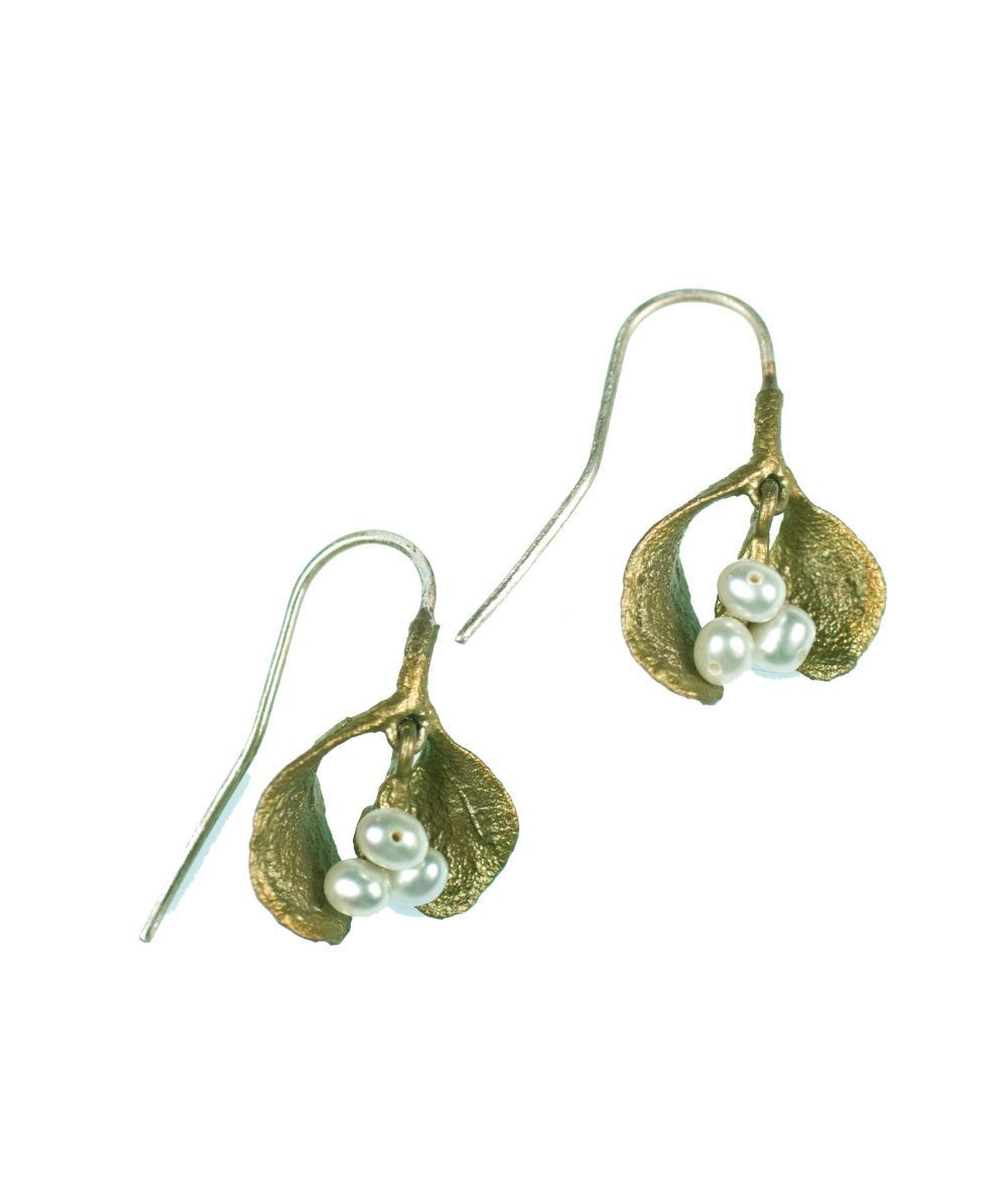 Michael Michaud for Silver Seasons Mistletoe Wire Earrings 4195
