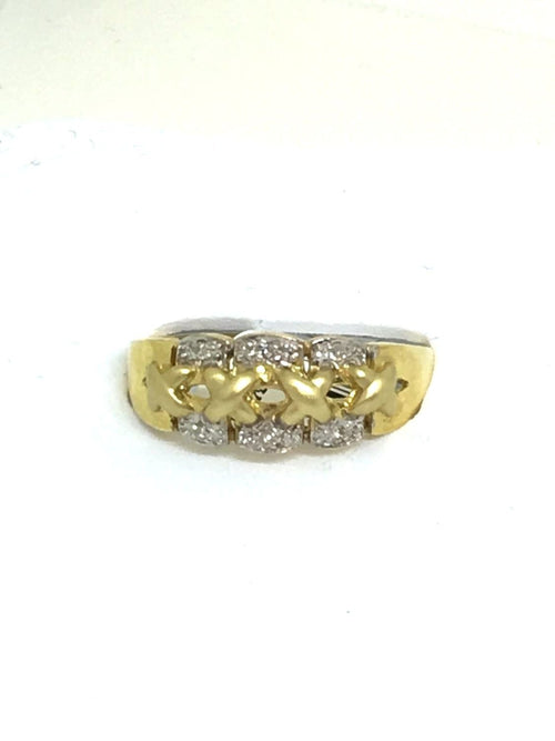 Genuine Diamond 14K Yellow Gold Ring $410 NWT Size 7