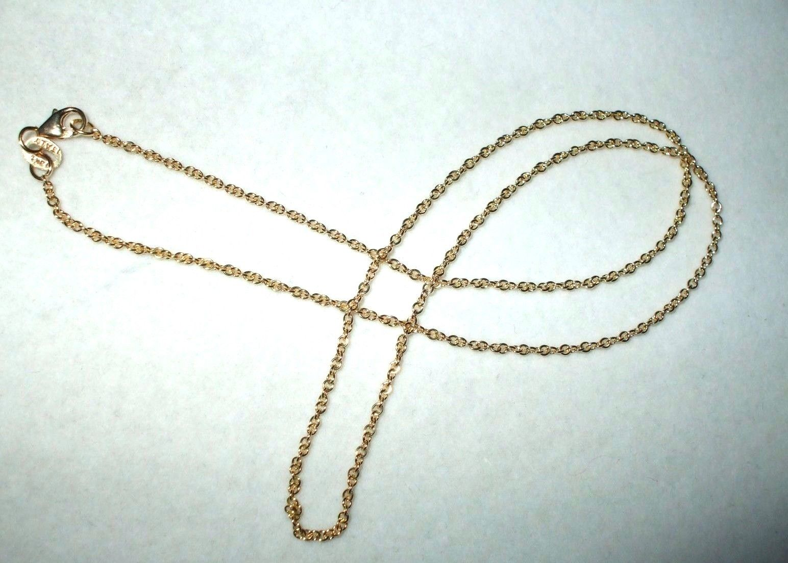 18 inch 14K yellow gold cable chain with lobster clasp 2.6 grams $350