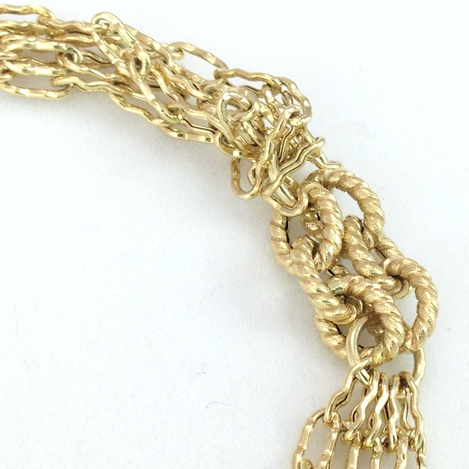 Genuine 14K Yellow Gold Adjustable Bracelet 7-8 inches $775 -  6.8 gr. NWT