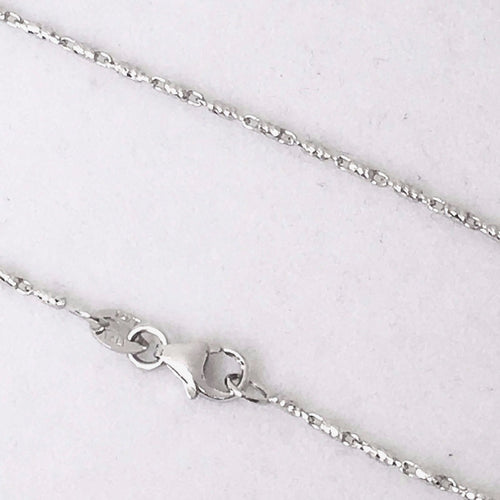 18 inch 14K white gold Raso chain, lobster clasp 2.6 grams 1.0 mm $380