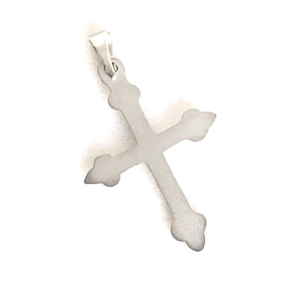 14k White Gold Cross Pendant, 1.2 grams, NWT $190