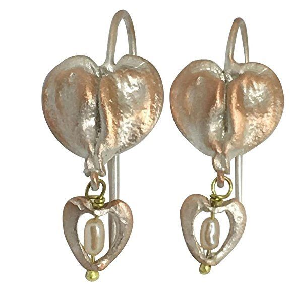 Michael Michaud Retired Bleeding Heart Wire Earrings 4773 Retail Price $68