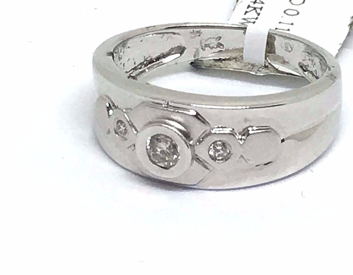 14K white gold and Genuine Diamond Ring  $580 NWT Size 7 1/4