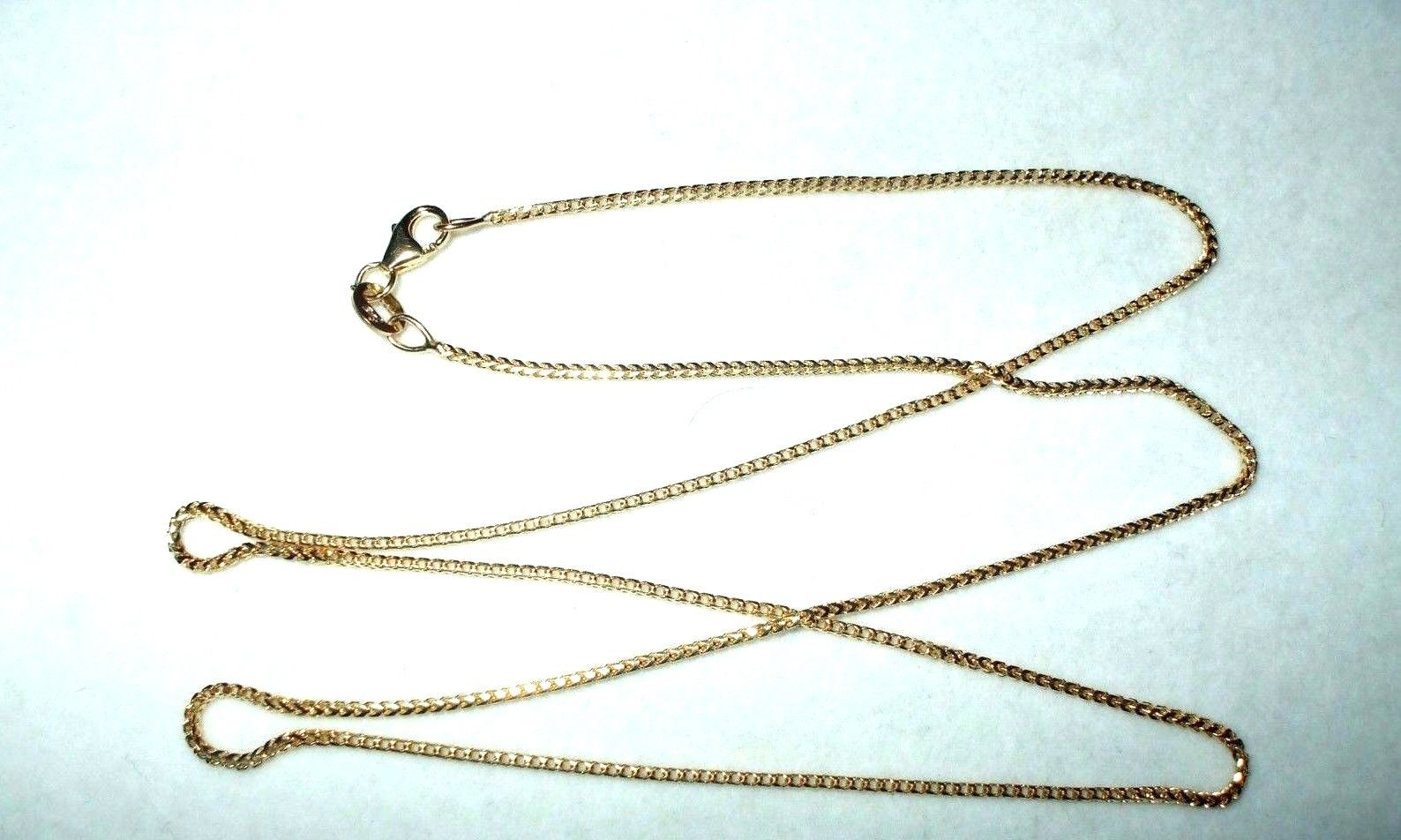 20 inch 14K yellow gold Franco chain with lobster clasp 3.5 grams $480
