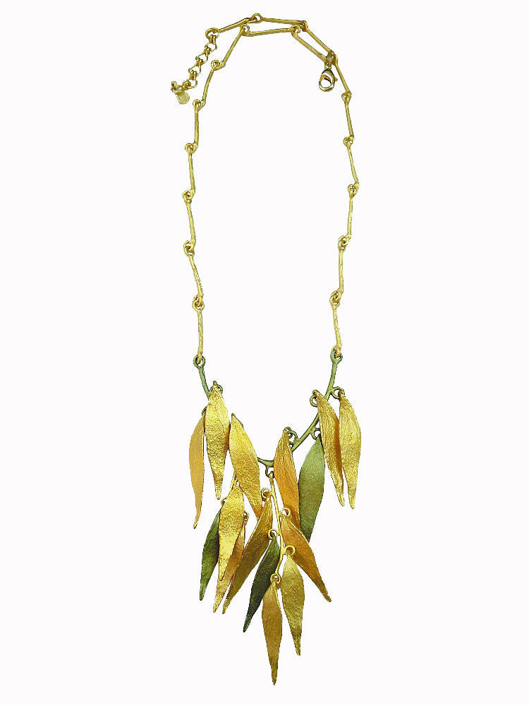 Michael Michaud Retired Weeping Willow 2 Tone Necklace 8947 Retail price $232