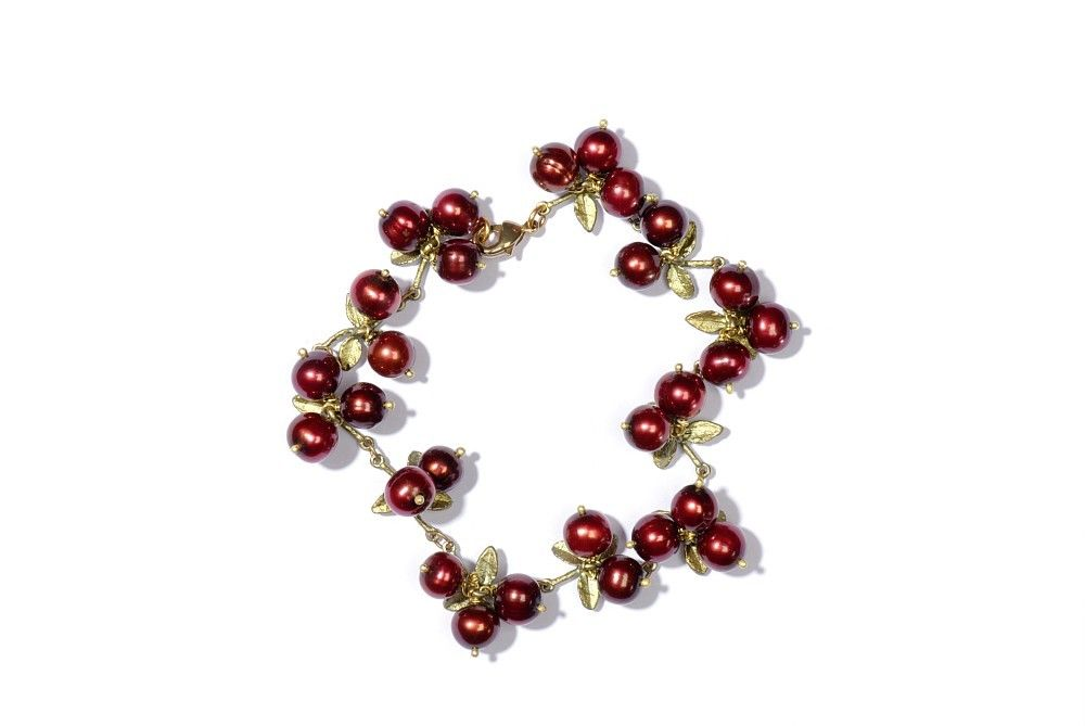 Michael Michaud Silver Seasons Cranberry Bracelet 7105 BZ