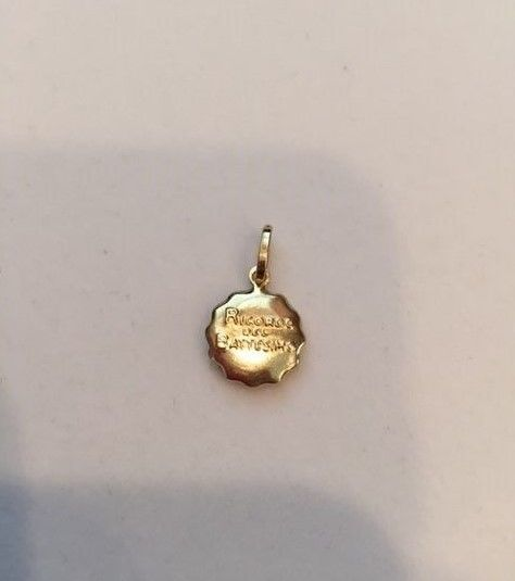 14k yellow gold Baptism Pendant