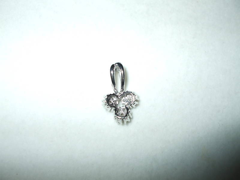 Genuine Diamond Pendant 14K white gold NWT $640