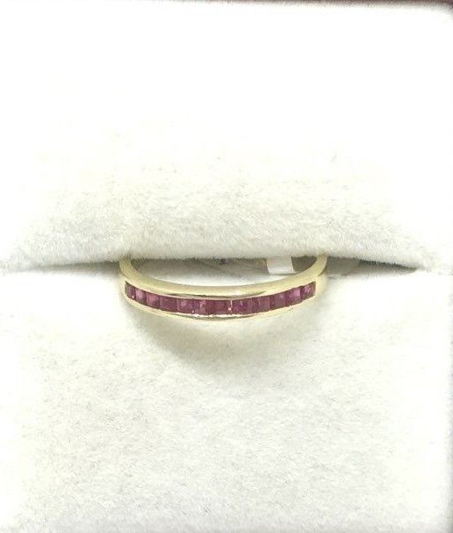 14K yellow gold and Genuine Ruby Ring $400 NWT Size 6 3/4