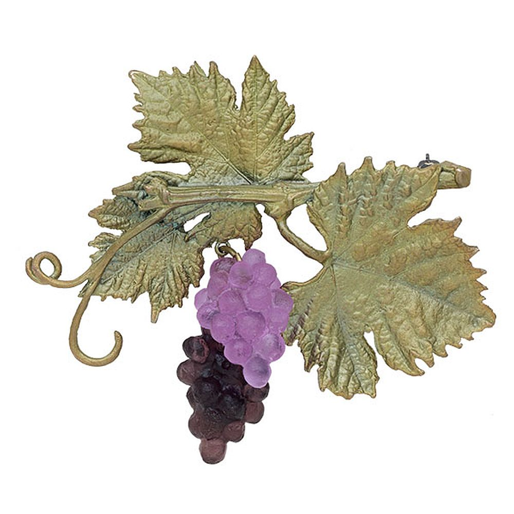 Michael Michaud Silver Seasons Retired Grapevine Pin 5965 Retail $101
