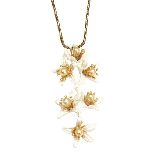 Michael Michaud Retired Orange Blossom Pendant Necklace 8203 Retail Price $110