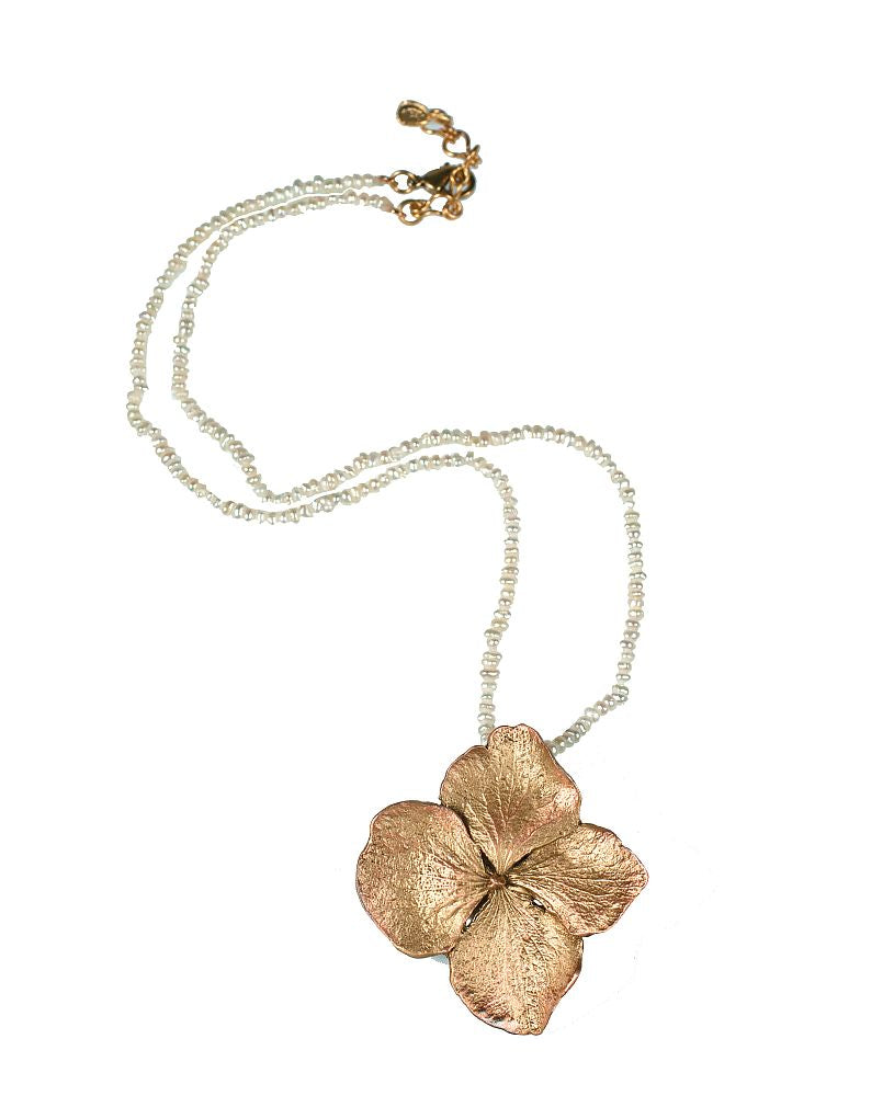 Michael Michaud for Silver Seasons Hydrangea & Pearls Necklace 8334