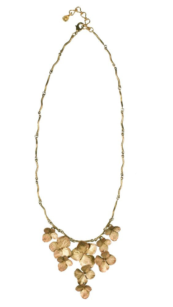 Michael Michaud for Silver Seasons Hydrangea 9 Flower Necklace 8335