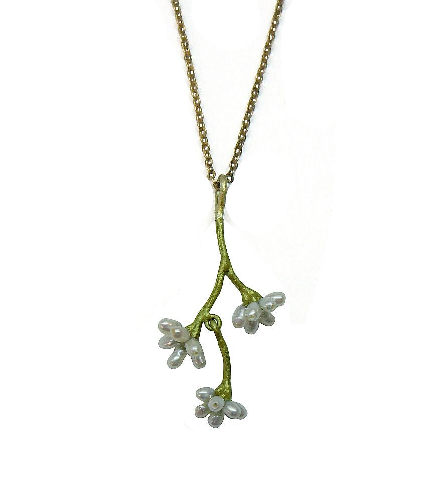 Michael Michaud Silver Seasons Retired Myrtle Necklace 8909 Retail $89