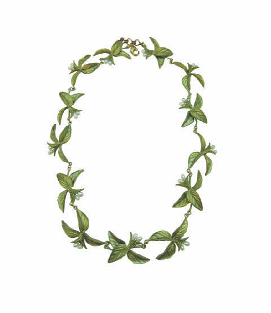 Michael Michaud Silver Seasons Retired Basil Necklace 8961 Retail $181